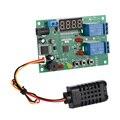 Controlador De Temperatura E Umidade Digital Módulo de controle do Relé regulador térmico Inteligente com Função de Alarme Indicador LED