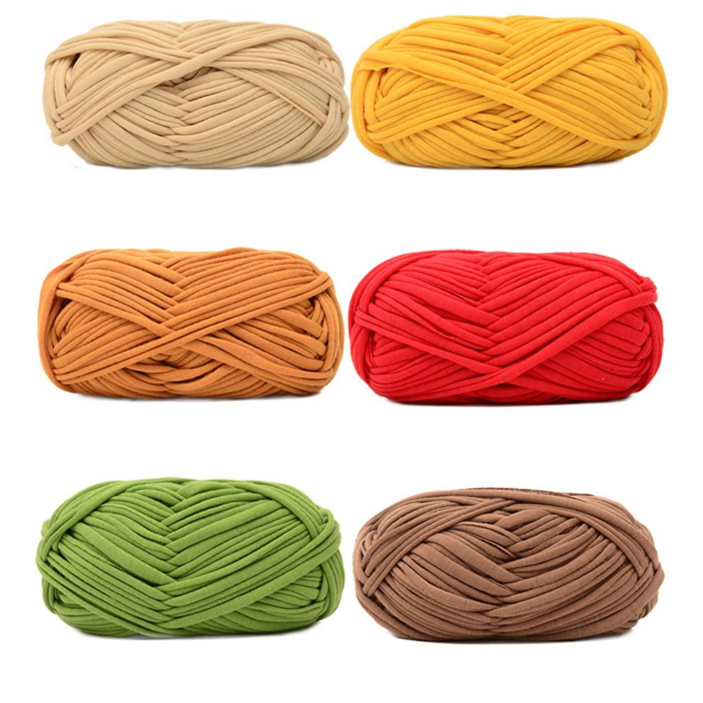Hand-knit Woven Thread Blanket Carpets Yarn Cotton Wool Knitting Braided DIY Crochet Fancy Cloth Yarn Cloth Line Hand-woven Mat