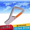 Colgando Mosquetón De Metal USB Flash Drive 64 GB Pen Drive 16 GB 8 GB Pendrive Colgantes hebilla Tarjeta de Memoria Stick unidades