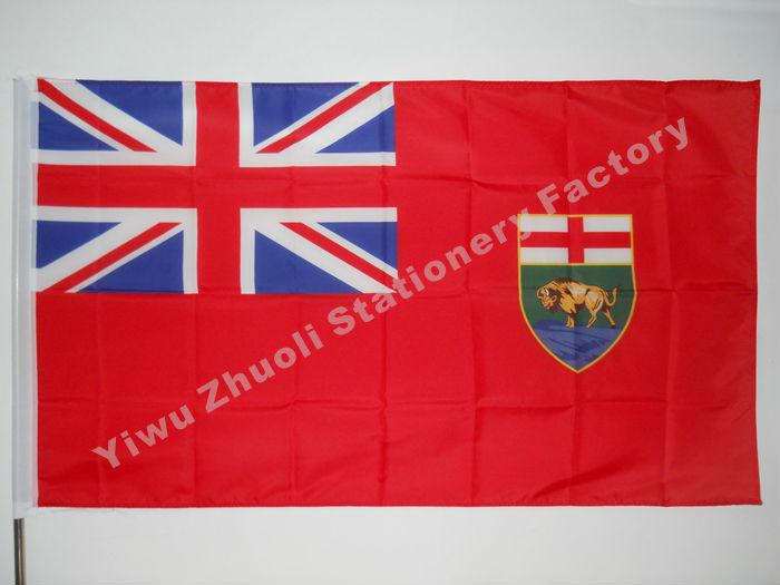 Manitoba Flag 150X90cm (3x5FT) 120g 100D ოფისი / - სახლის დეკორაცია - ფოტო 1