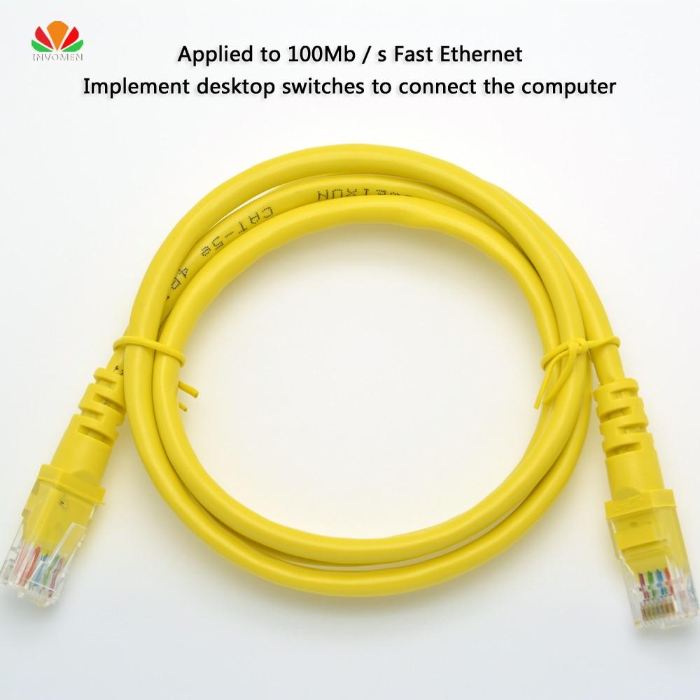 Cable UTP CAT5e Cable de red RJ45 Cable Ethernet Par trenzado de acero revestido de cobre HUAWEI ZTE FAST Cable de conexión Ethernet Cable Lan