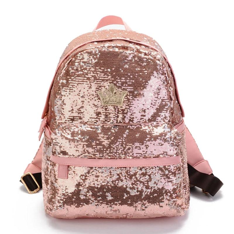 2017 Glitter Backpack Women Sequin Backpacks For Teenage Girls Rucksack New Fashion Brand Gold Black School Bag mochilas XA582H кулон дженифер прес коралл коралл хрусталь