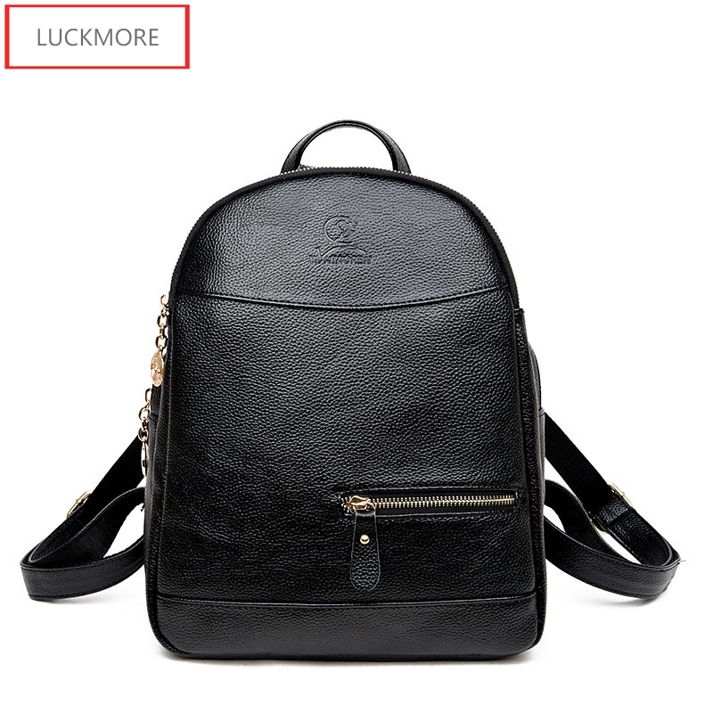 2017 Fashion Brand Designer Cow Genuine Leather Women Bag Drawstring School Bag For Teenagers Girls Female Travel Bag haoqima famous brand women genuine cow leather girls backpack designer shoulder girl school bag for teenagers travel backpacks