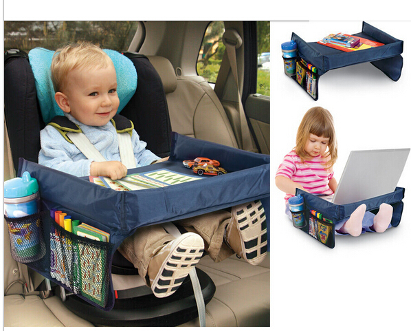 New Kids Car Organizer Child Car Seat Tray Waterproof Storage Board Toy Car Table Holder Tray Desk Infant Stroller Board Table встраиваемый спот точечный светильник lucide focus 11001 05 36