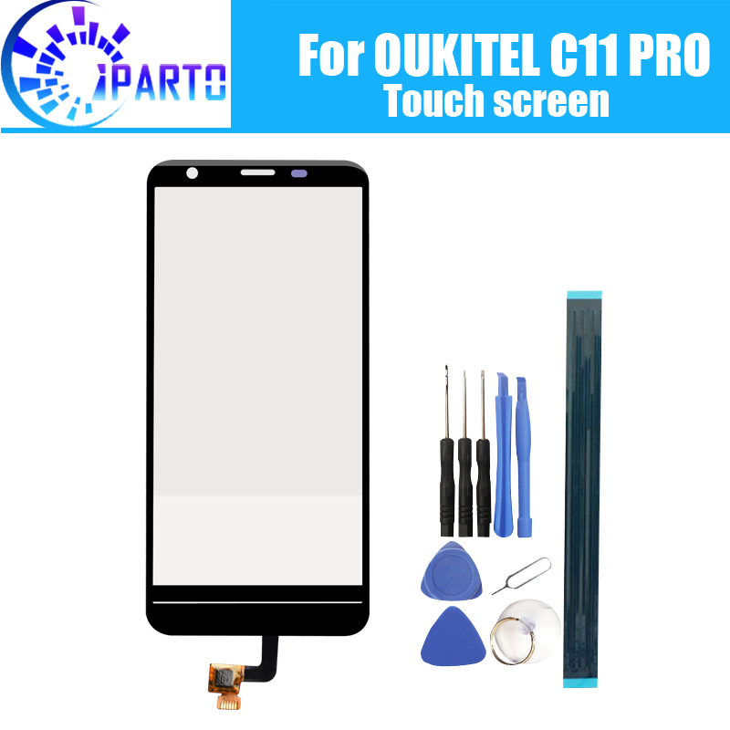 5.45 Inch For OUKITEL C11 PRO Touch Screen Glass 100% Guarantee Original Digitizer Glass Panel Touch Replacement For C11 PRO