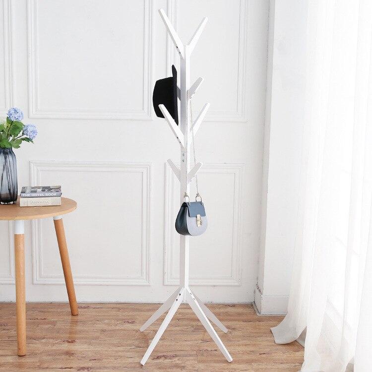 Bedroom hat Hook 9 hook solid wooden coat rack hat shelf scarf rack living room furniture цена