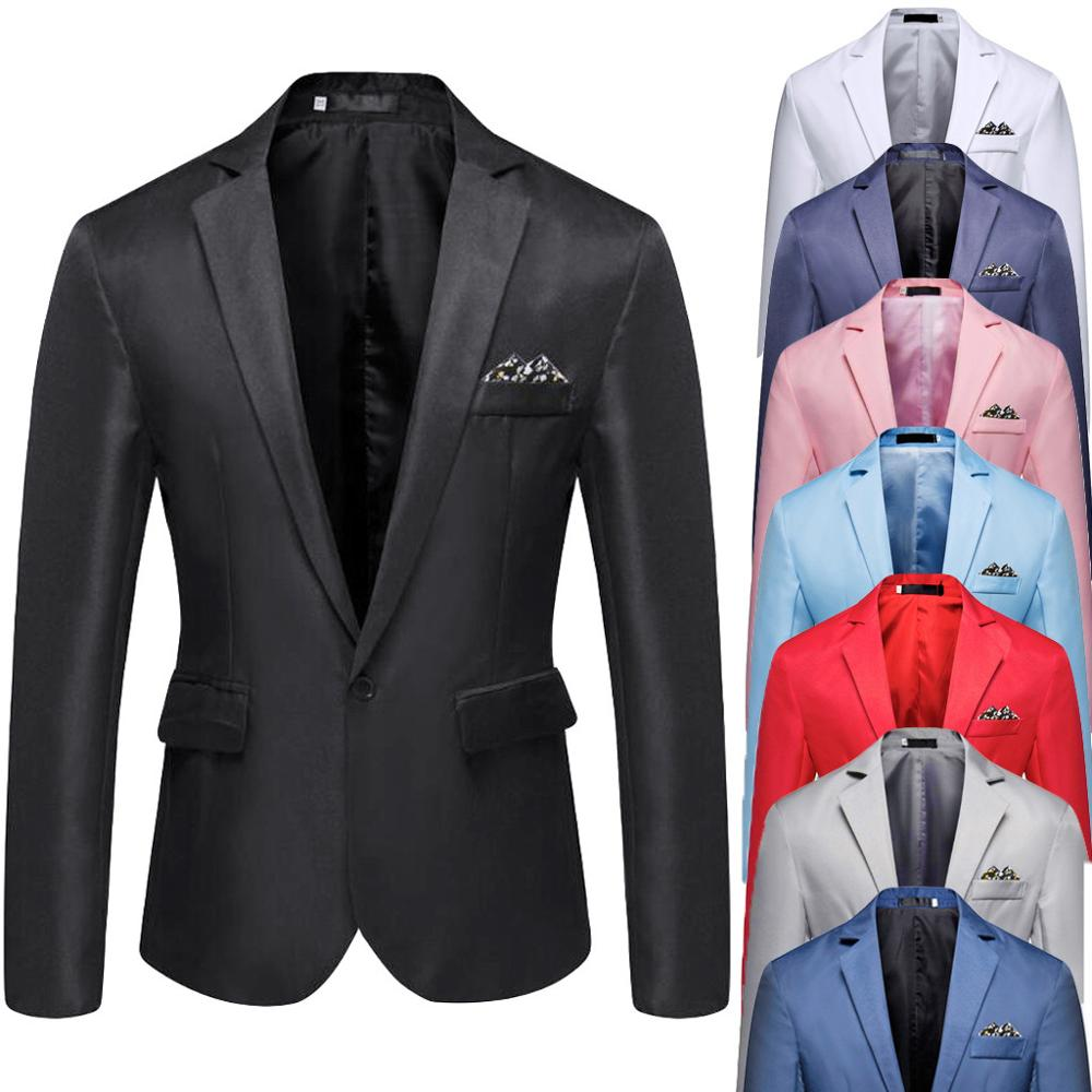Tops Male Suit Blazer Coat Spring Slim-Fit Business Wedding-Party Autumn Men's Casual