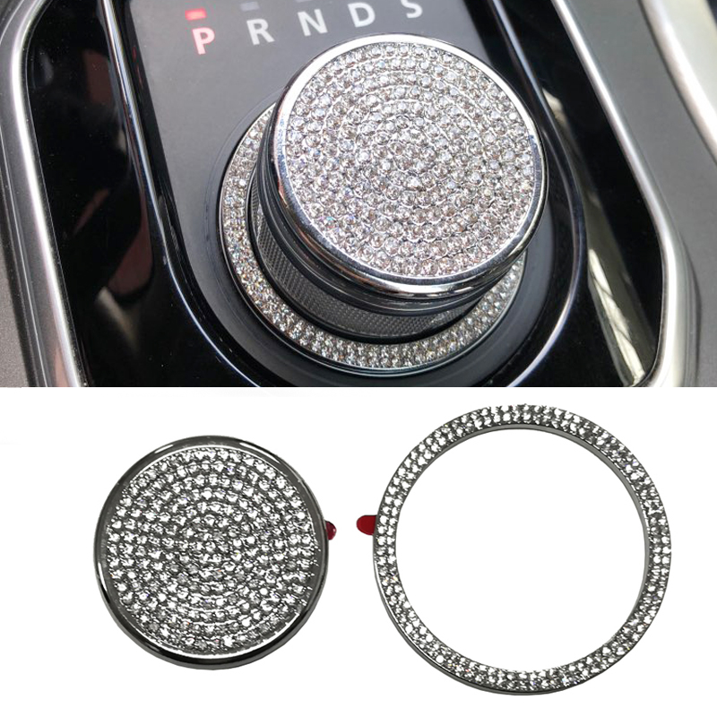 цена на Chrome car gear shift knob sticker accessories for Range Rover Evoque for Land Rover Discover Sport Discovery 4 for Jaguar XF XJ