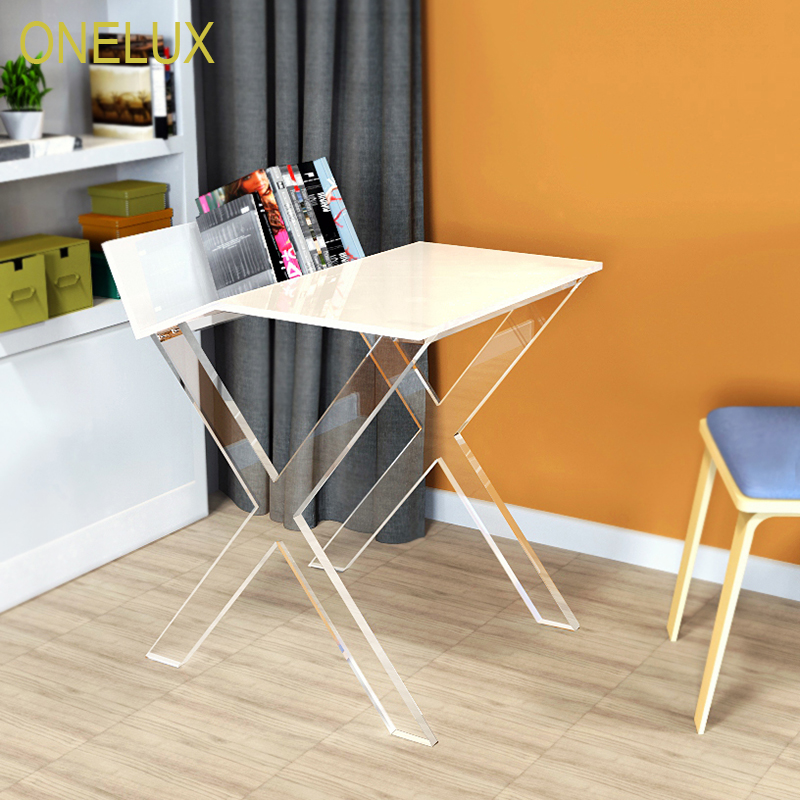 Clear X Legged White Acrylic Book Table,Lucite Home Office Desk Flat  Packed In Console Tables From Furniture On Aliexpress.com | Alibaba Group