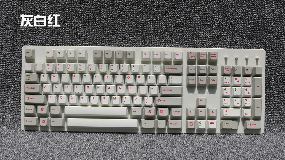 все цены на Enjoypbt dyesub thcik PBT keycap mechanical keyboard cherry mx height 104 keyboard TKL 87 dye sub print top print в интернете
