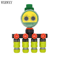 wxrwxy Garden Irrigation controller 4 way tap 1/2 hose Faucet 4 way splitter Timer for watering 16mm Shunt four outlets 1set
