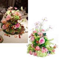 Wedding artificial centerpiece flowers rose daisy buds flower table flower home wedding hotel decoration studio photography