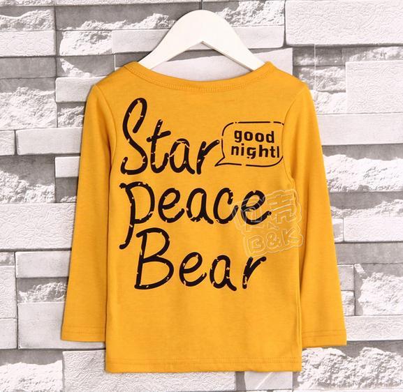 63ecee58528 Retail new autumn baby boy t shirt yellow cotton long sleeve pocket panda t  shirt boys letter t shirt kids children t shirts-in T-Shirts from Mother    Kids ...