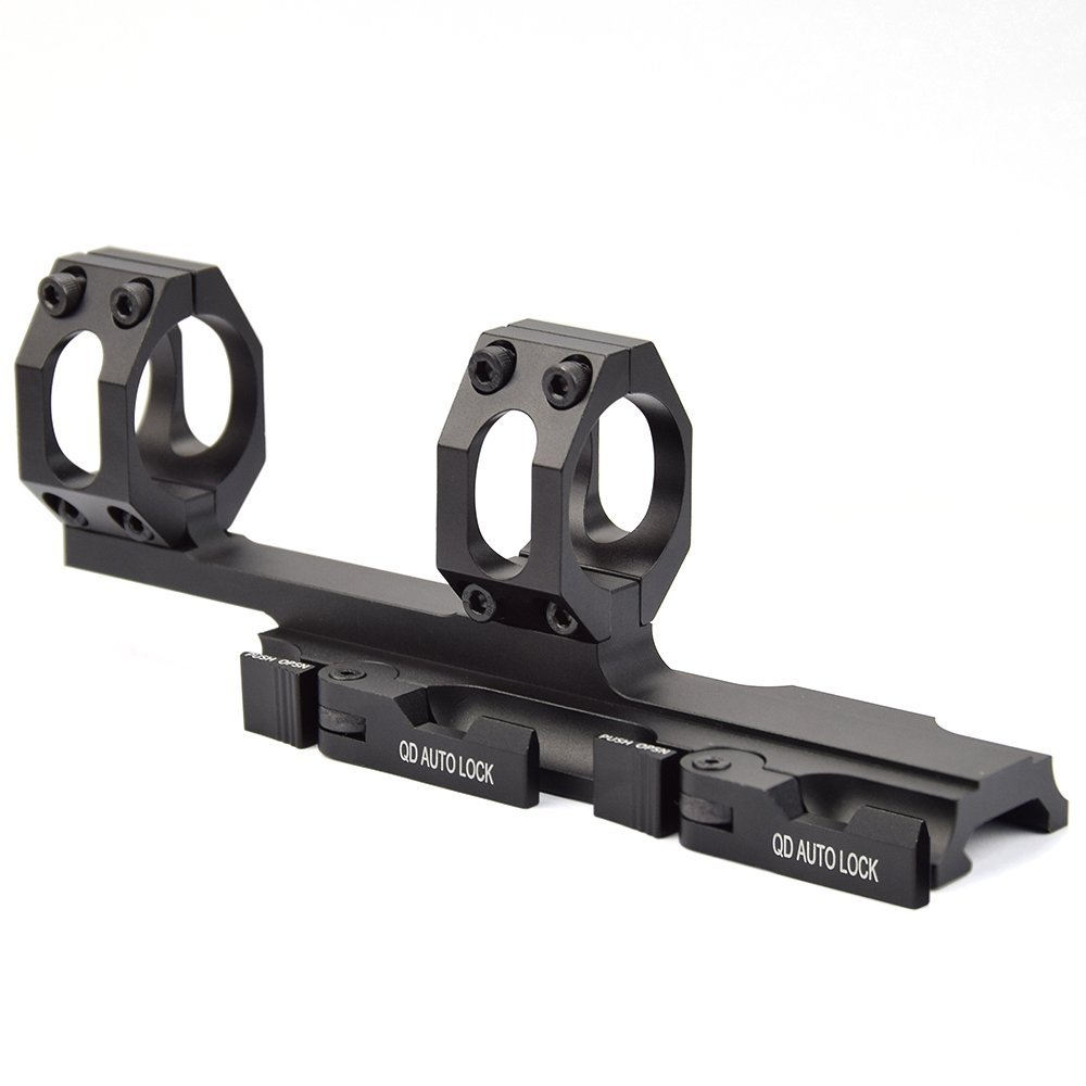 QD Auto Quick Release Rifle Scope Mount Rings 30mm/25mm Cantilever for 20mm Picatinny Rail OpticsQD Auto Quick Release Rifle Scope Mount Rings 30mm/25mm Cantilever for 20mm Picatinny Rail Optics