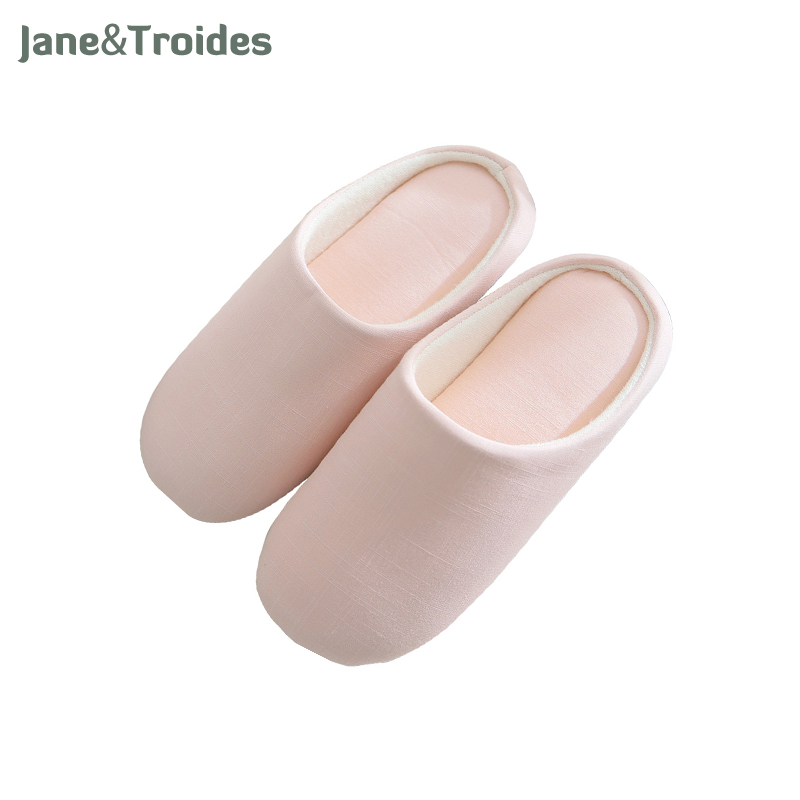 Spring Autumn Home Woman Slipper Anti Slip Comfortable Cotton Solid Color Flip Flop Casual Soft Sandal Fashion Brand Women Shoes