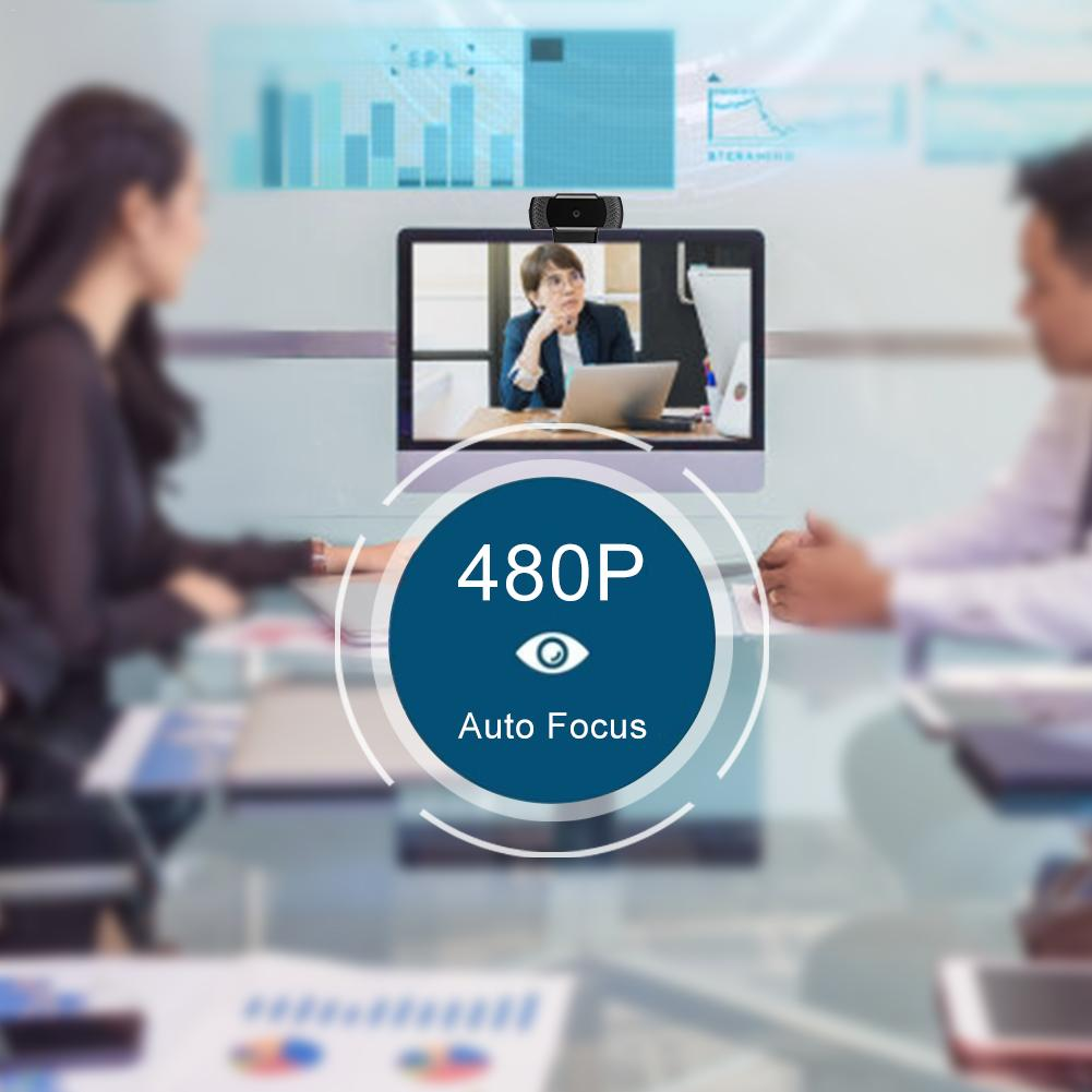 A880 480p HD Computer Webcam Widescreen Video Calling Recording Camera With Microphone For Video Chat Video Conferencing in Microphones from Consumer Electronics