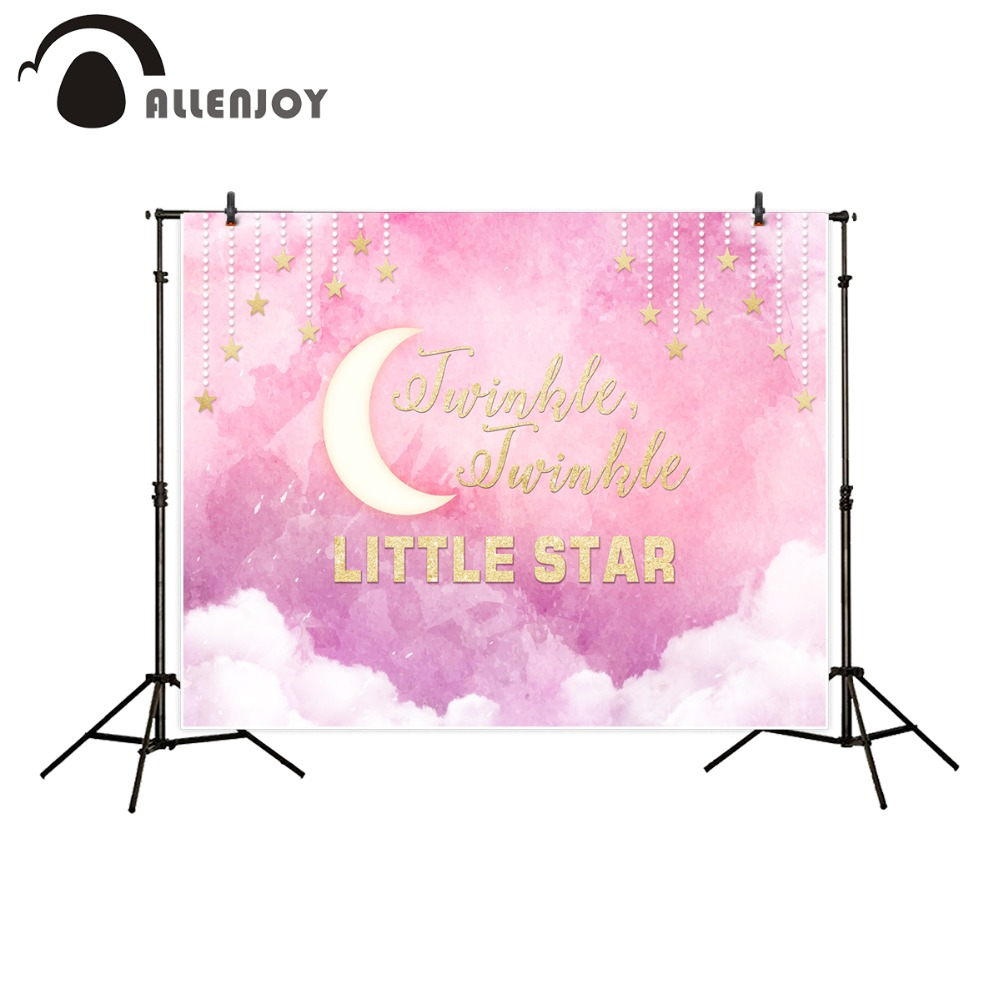Allenjoy photography backdrop Pink twinkle twinkle little star birthday theme children's photographic backgrounds photo studio fiio x3 ii gold limited edition