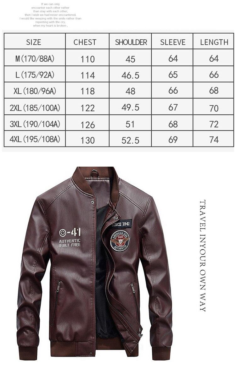 HTB1j2zFbUGF3KVjSZFvq6z nXXaa 2019 Fashion Leather Bomber Jacket Men Autumn Winter Military Jackets Male Fleece Liner Outwear Coats Warm PU Baseball Jackets