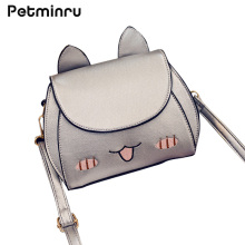 Petminru New Summer Spring Shoulder Bags Sailor Moon Cartoon Cat Messenger Hobos Crossbody Embroidery Small Bags  Silver