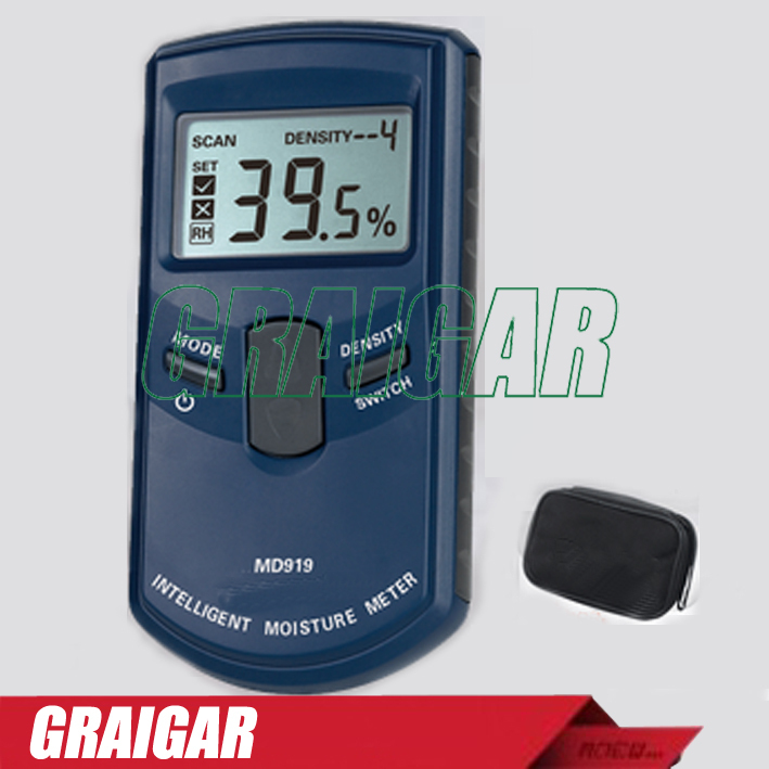 MD919 Digital Moisture Meter with Measuring Range 4%~40%RH Resolution 0.5% optometric economic digital pupillometer cx8 stable quality ce marked accurate measuring pd meter