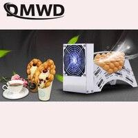 DMWD 상업용 스테인레스 스틸 에그 버블 와플 메이커 미니 적외선 센서 냉각 팬 건조기 자동 Eggettes 송풍기 쿨러