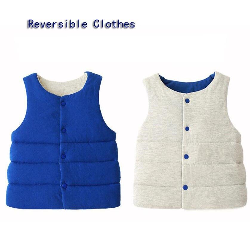 100% Wahr Baby Kleidung Kinder Verdicken Reversible Kleidung Baby Mädchen Verdicken Weste Jungen Kleidung Kinder Tops 1-5y Kinder Outwear Baby Weste