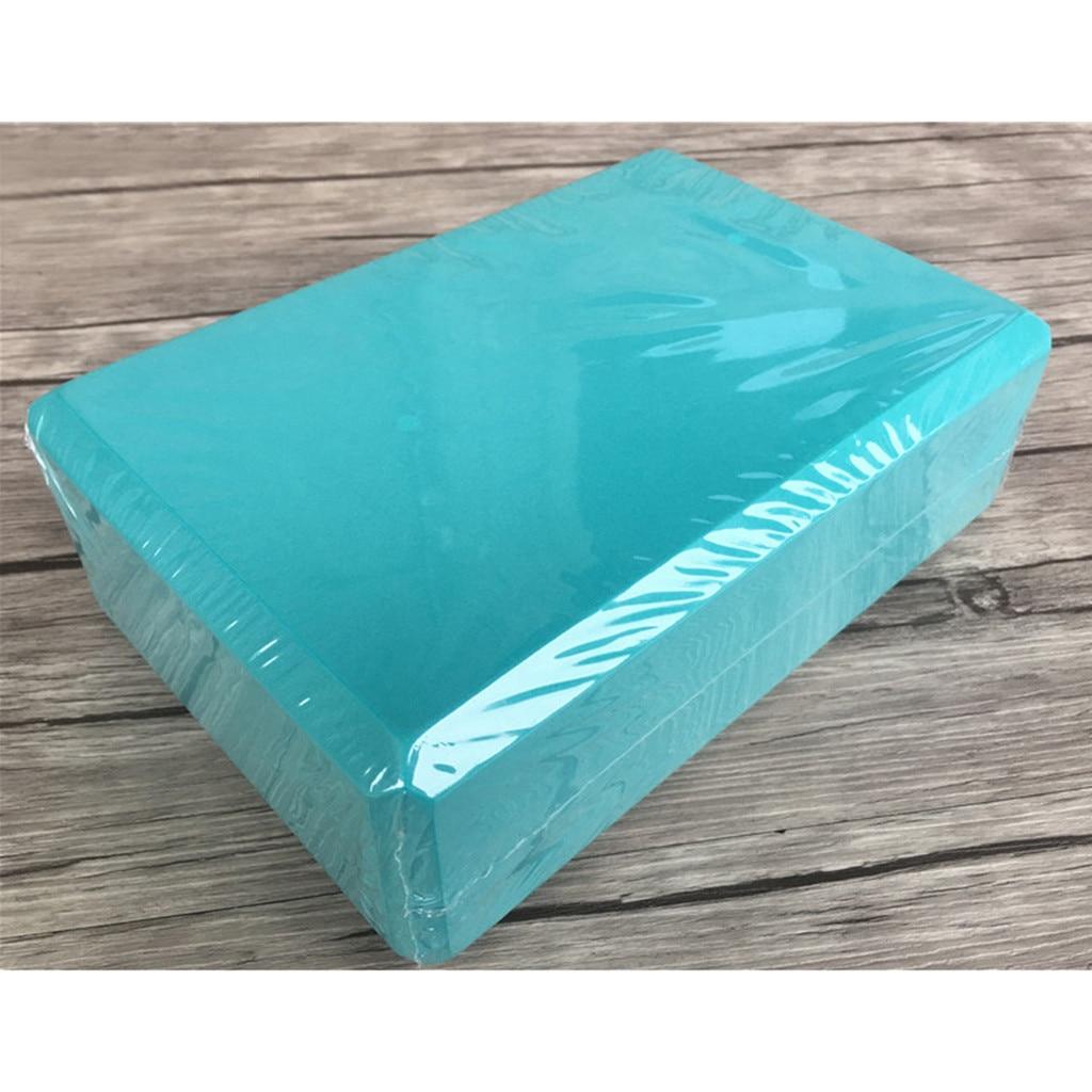 1 Pcs 8 Colors EVA Yoga Cork Block Pilates Foam Brick Home Stretch Gym Fitness Exercise Tool Washable Portable *30