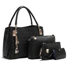 Women Handbags Brand Ladies Tote Purse Top handle Shoulder Bags Sac a Main 4 Pieces 1