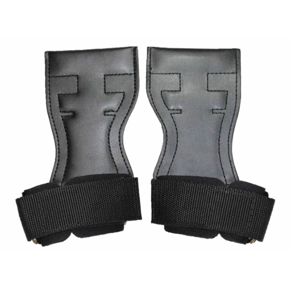 Leather Cross Training Gloves Sports Gymnamistics Hand Grips Wrist Support Wraps for Pull Ups font b