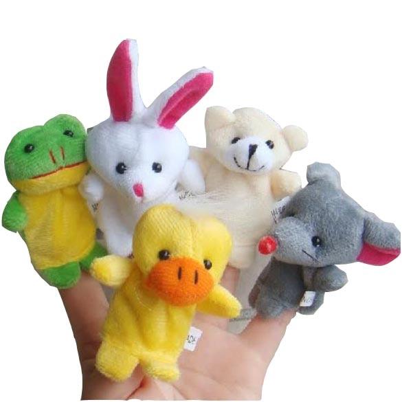 10x-Cartoon-Biological-Animal-Finger-Puppet-Plush-Toys-Child-Baby-Favor-Dolls-2