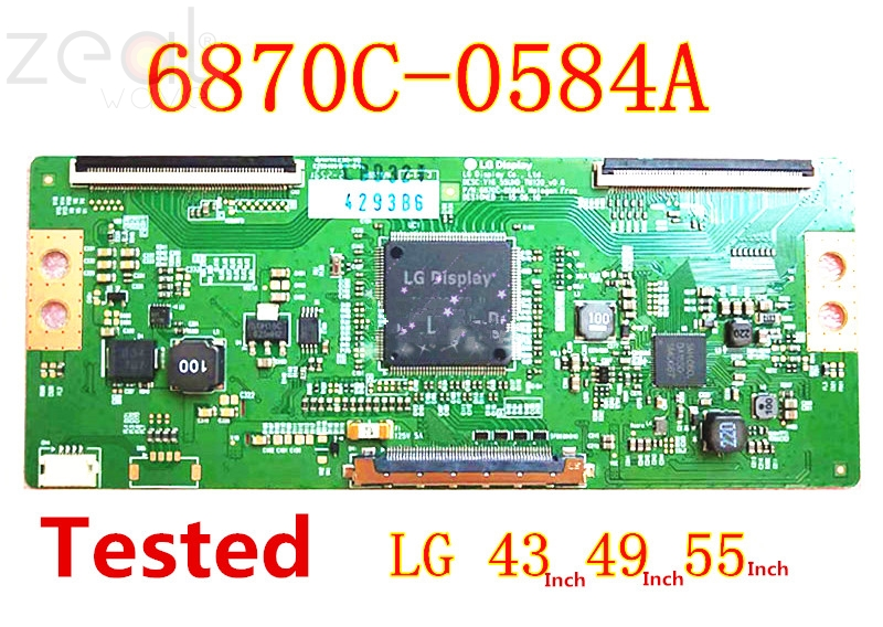 FOR 6870C -0584A 6870C -0584B 6870C -0584C Logic Board For LG 43 Inch 49  Inch 55 Inch LCD TV Compatible