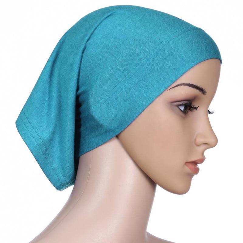 20 Colors Muslim Women Cotton Under Scarf Tube Bonnet Hijab Cap Islam Head Cover