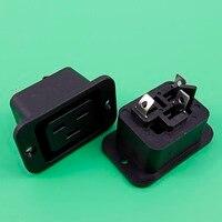 YuXi SS-3B Ładowarkę Podróżną/Konwerter Wtyku w kolorze Czarnym * Panel Znak CE AC 250 V 16A IEC 320 C19 założyć Wtyczkę Złącze Gniazdo