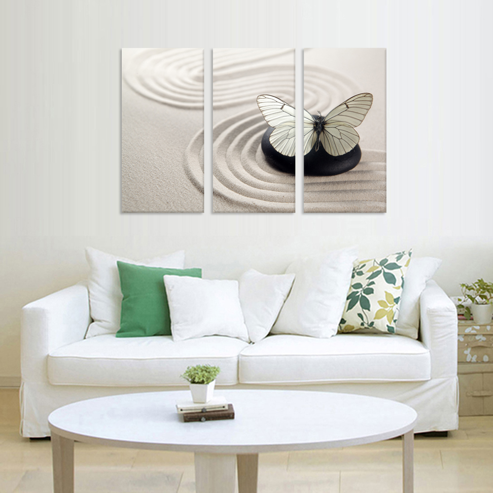 3 Pieces Butterfly Modern Wall Art Canvas Painting Wall Pictures For ...