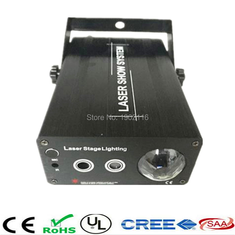 ФОТО RG 48 Patterns 3 lens Red And Green Mini Laser Projector Stage Light DJ Disco Party Club Bar Show Lighting LED Blue Lights