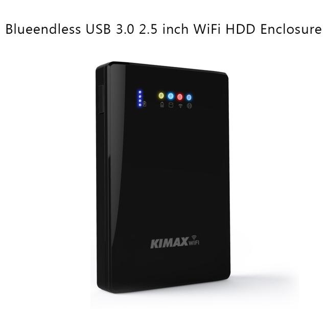 """2.5 """"HDD Disco Rígido Recinto Caso 00 mpbs USB3.0 Armazenamento Compartilhamento Sem Fio Repetidor Sem Fio Wi-fi Powerbank Suporte IOS/Android"""
