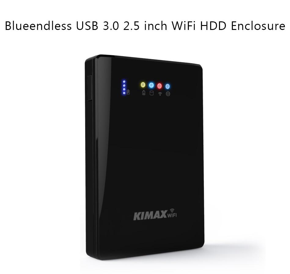 2 5 HDD Enclosure Hard Drive Case 00mpbs Wireless Repeater WiFi Storage USB3 0 Wireless Sharing