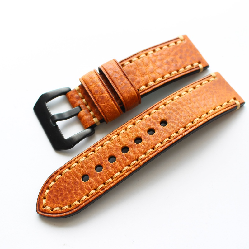 TJP Handmade 20mm 22mm 24mm Vintage Red Brown Italy Calf Leather Watch Strap, Retro Watchband For Pam And Big Pilot Watch ingrid szu ying chen reading w scott s picturesque scotland