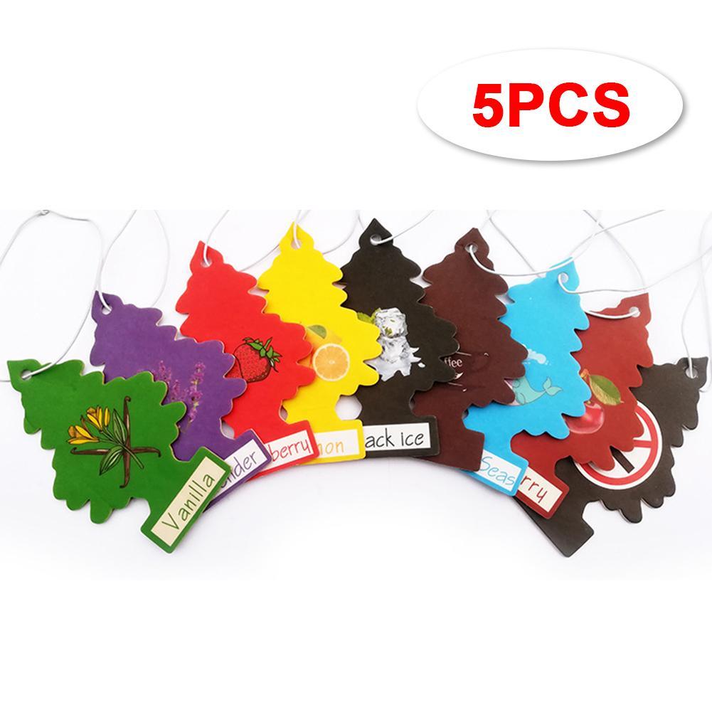 5Pcs Car Air Freshener Hanging Paper Tree Cardboard Royal Pine Scent For Home Car
