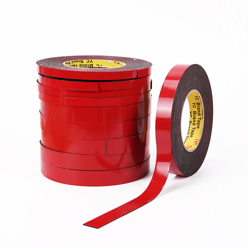1PC Double Sided Sticker Tape Foam Adhesive Tape Durable Double Faced Tape Foam Adhesive Office Supplies 10mX10mm 1pc durable double sided tape adhesive high strength double faced tape foam attachment tape two sided adhesive 10mx20mm