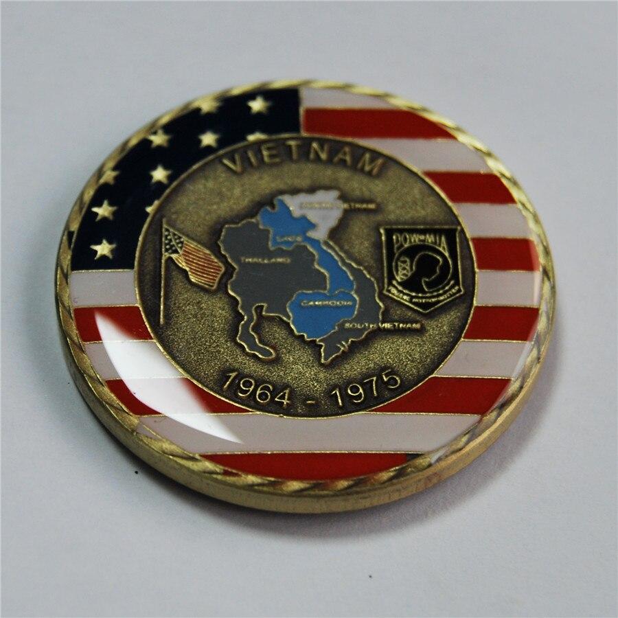 50 sztuk/partia darmowa wysyłka, kształcenia i szkolenia zawodowego armii Navy Marine sił powietrznych straży przybrzeżnej, wojna w wietnamie weteran wyzwanie monety w Monety bezwalutowe od Dom i ogród na  Grupa 1