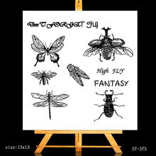 ZhuoAng Insect combination Clear Stamps/Card Making Holiday decorations For  scrapbooking Transparent stamps 13*13cm