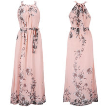 dress plus size women vintage beach style long dreses sexy bohemian print floor-length woman party night clothes floral