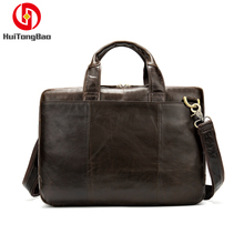 Man Geniune Leather Bags Cow Leather Crossbody Shoulder Handbags Business Oil Wax Tote Bags Hand Bags Large Capacity Package zmqn women leather handbags oil wax soft leather hand bags large capacity crossbody bags famous brand portable strap adjustable