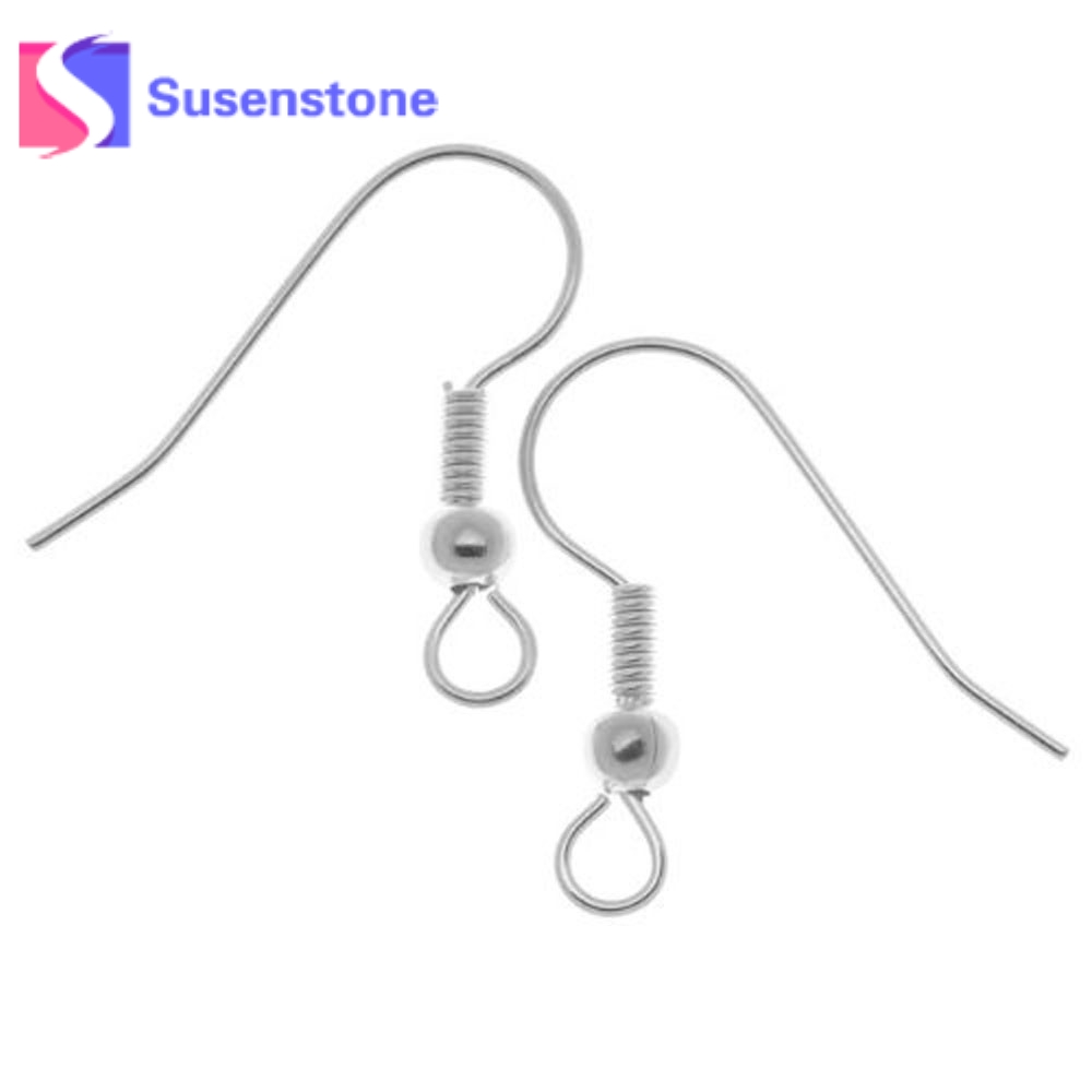 100 pcs Stainless Steel Silver Tone Earrings Hooks Hypo-Allergenic Women's Earring Components DIY Jewelry Findings Fine Jewelry 100 pieces stainless steel earring back 4x6mm silver tone metal earback earring stopper for findings diy jewelry making