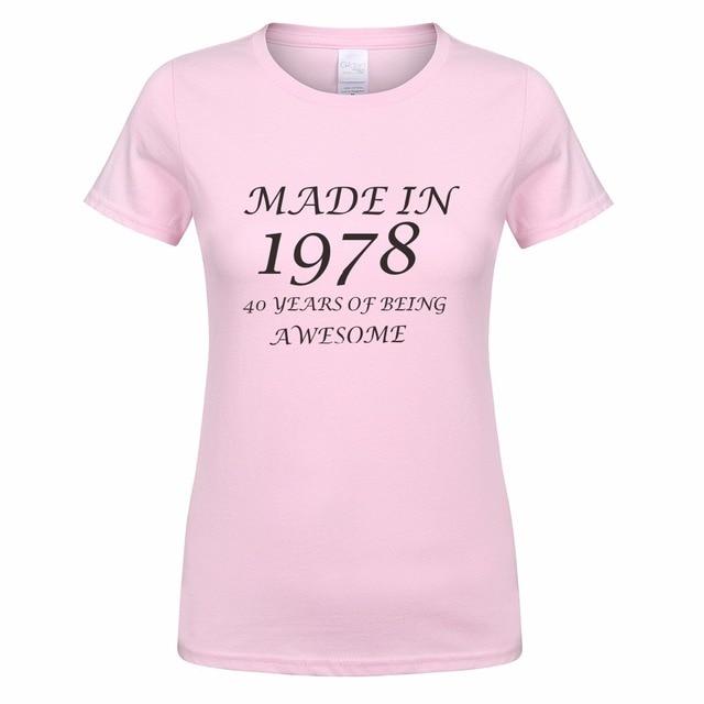 Gemaakt In 1978 40 Jaar Van Wordt Awesome T Shirt Tops Zomer Vrouw