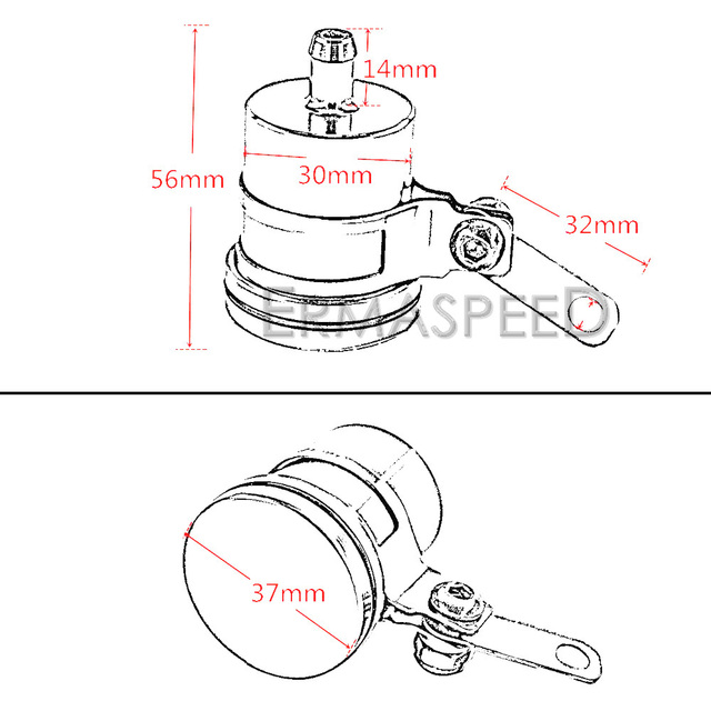 Motorcycle Rear Brake CNC Aluminum Fluid Reservoir Clutch Tank Oil Cup for Honda MSX125 Kawasaki Z125 Z750 Z900 KTM 125 200 390