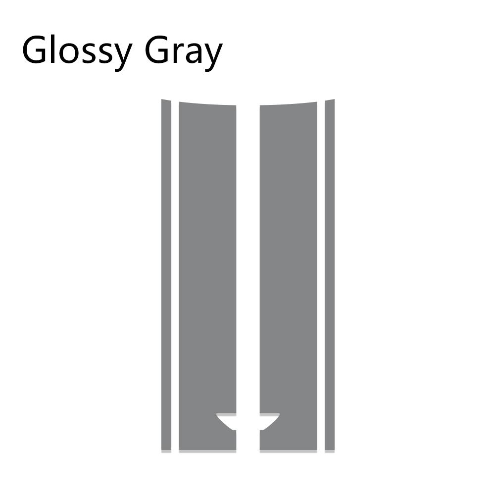 Автомобильный стиль, наклейка на голову, капот, наклейки в полоску для MINI Cooper S One, земляк, Clubman R55 R56 R60 R61 F54 F55 F56 F60, аксессуары - Название цвета: Gray