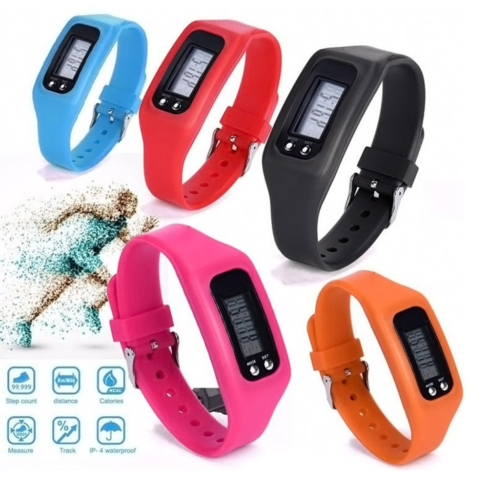 2018 Hot Sale New Battery Multifunction 6 Colors Digital LCD Pedometer Run Step Calorie Walking Distance Counter High Quality