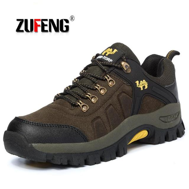 High-quality Genuine Leather Men Hiking Shoes For Women Winter Brand Outdoor Mens Sport Trekking Mountain Climbing Sneakers Men
